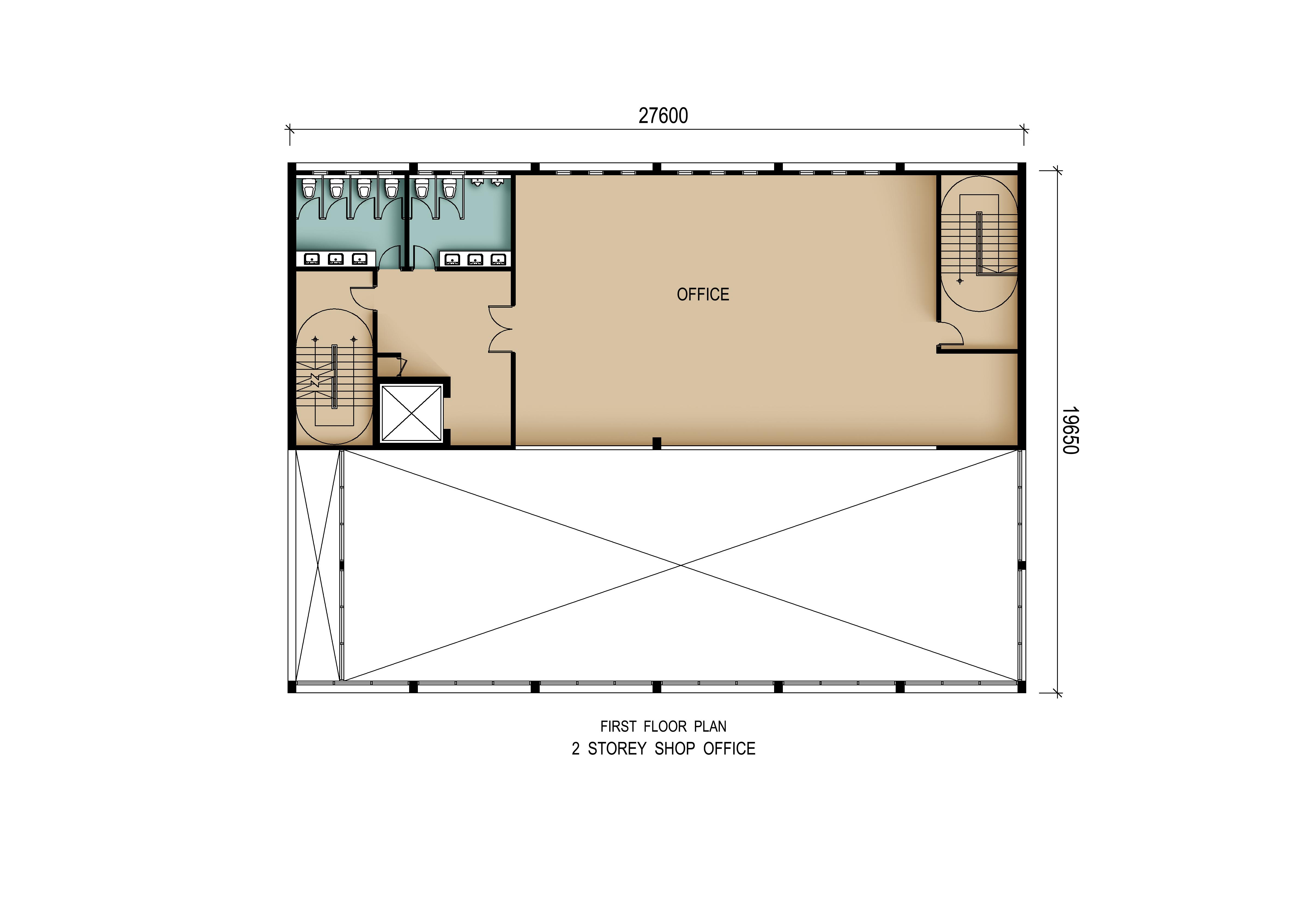 2 Storey Detached Shop Office (First Floor)